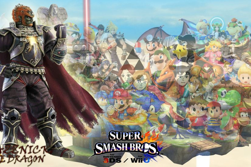 SSB4 Wallpaper Ganondorf by Mazznick SSB4 Wallpaper Ganondorf by Mazznick