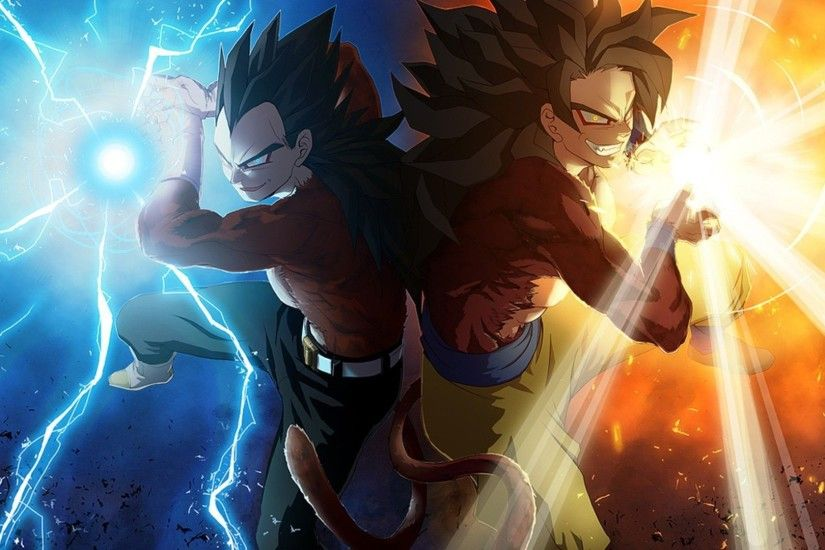 HD Super Saiyan 4 Vegeta and Goku Wallpaper Full HD Full Size .