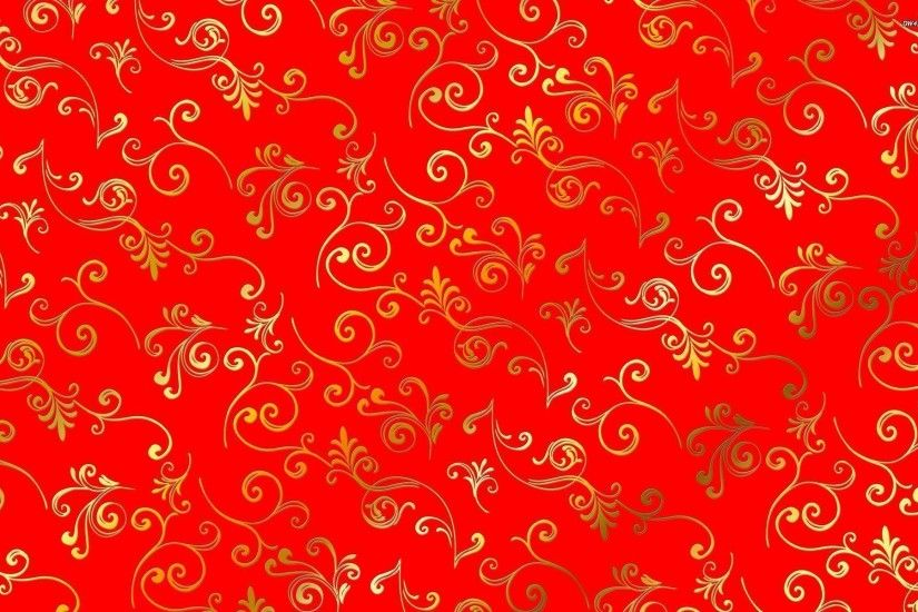 Golden swirl pattern wallpaper - Vector wallpapers - #