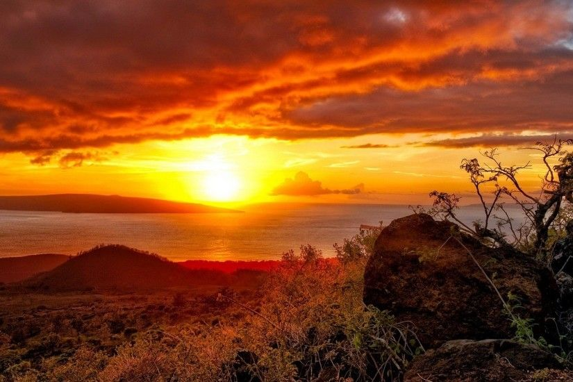 Island Sun Clouds Landscape Sunset Desktop Wallpaper Of Nature Free  Download Detail