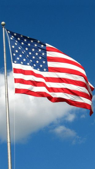 USA American Flag Sky Android Wallpaper ...
