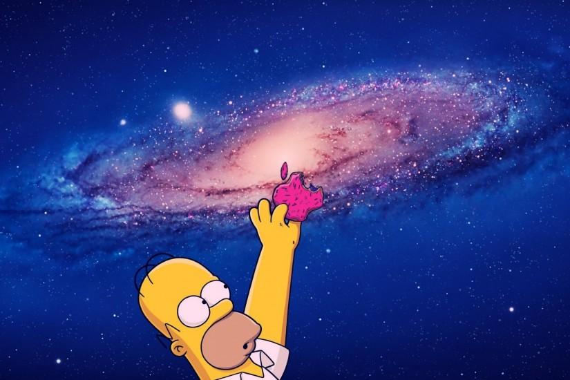 Homer reaching for a donut Apple logo wallpaper - Computer wallpapers .