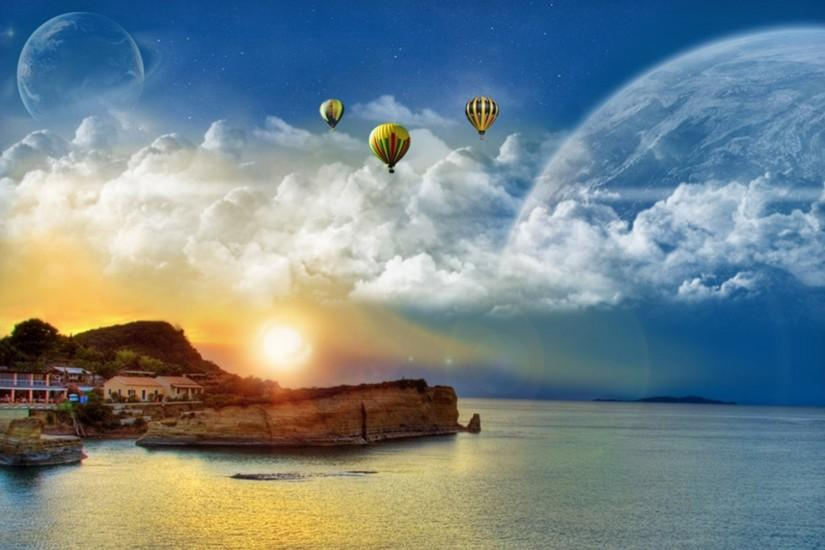 3D Art Balloons Desktop Background HD
