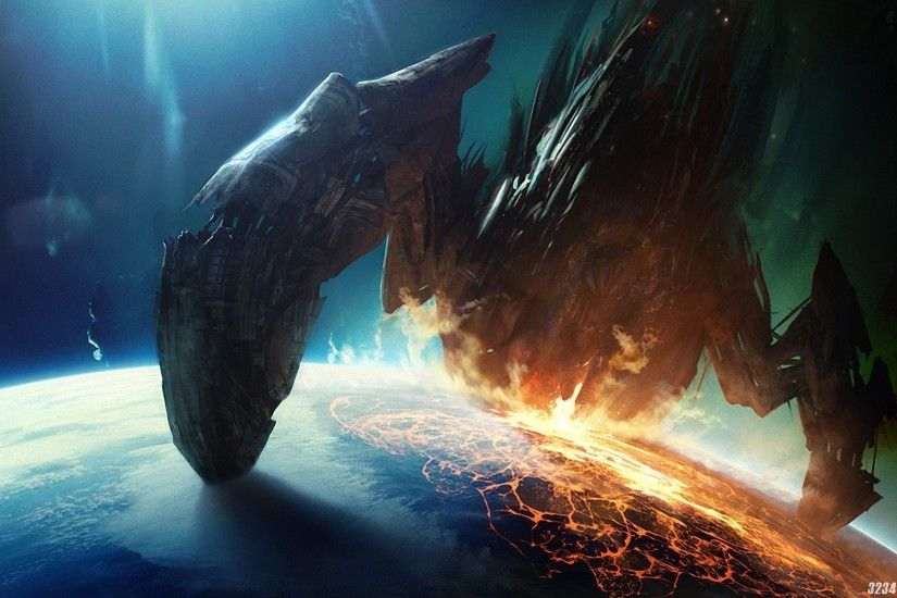 Promotional image for Mass Effect 3 Leviathan DLC