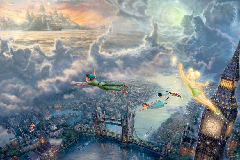 Free Peter Pan And Tinker Bell Cartoon, computer desktop wallpapers,  pictures, images