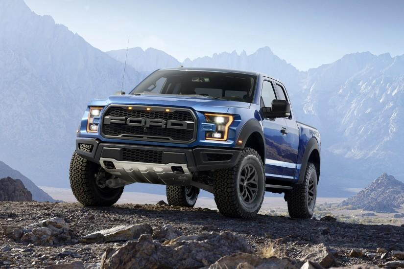 Preview wallpaper ford, f-150, raptor, pickup, stones 3840x2160