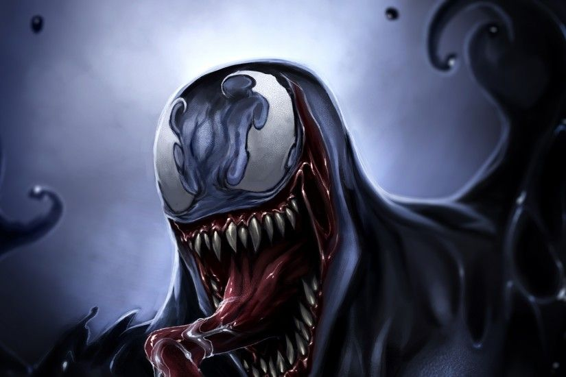 Preview wallpaper venom, eddie brock, art, monster, symbiote 3840x2160