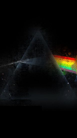 1080x1920 Wallpaper pink floyd, triangle, rainbow, graphics, background