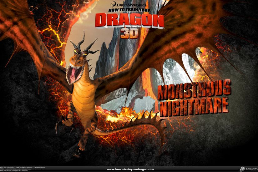 Monstrous Nightmare Dragon wallpaper - Click picture for high resolution HD  wallpaper