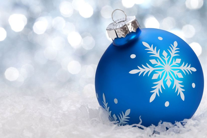 blue christmas ornament wallpaper