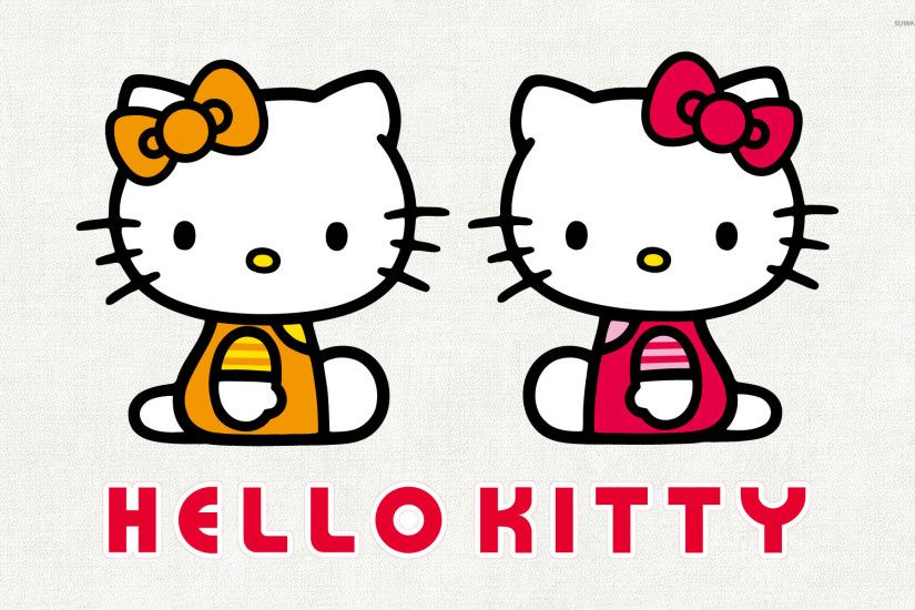 Mimmy White and Kitty White - Hello Kitty wallpaper