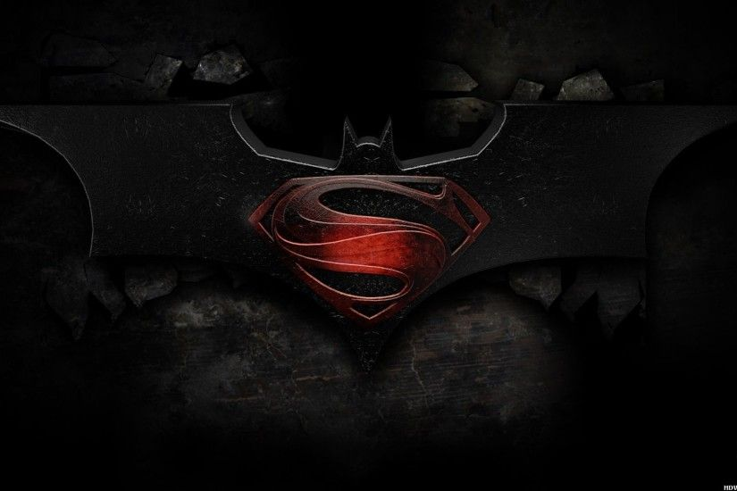 Superman Batman Logo Wallpaper Free HD