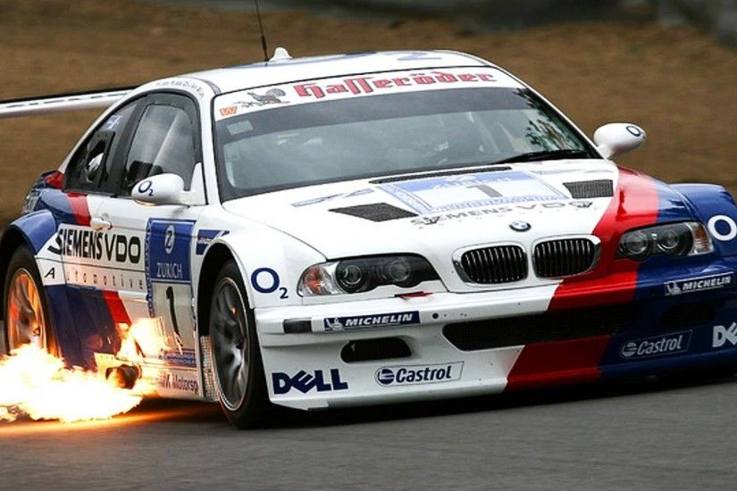 BMW M3 E46 GTR Shoting Flames Loud Sound High Speed Stunts Crashes - YouTube