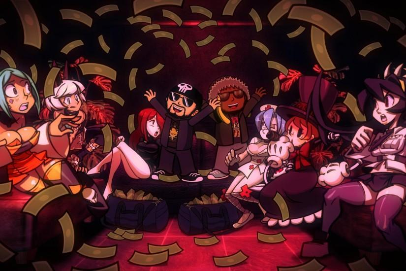 SKULLGIRLS action fighting chibi girl girls skull warrior anime mahga  1sgirls disney wallpaper
