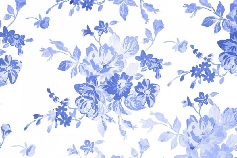 Blue Floral Watercolor Background ...