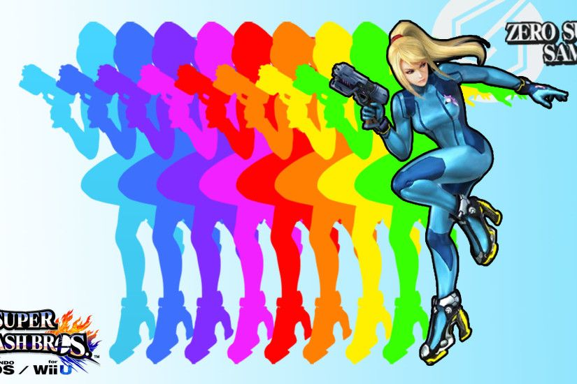 SSB4I was bored so I made a Zero Suit Samus wallpaper!