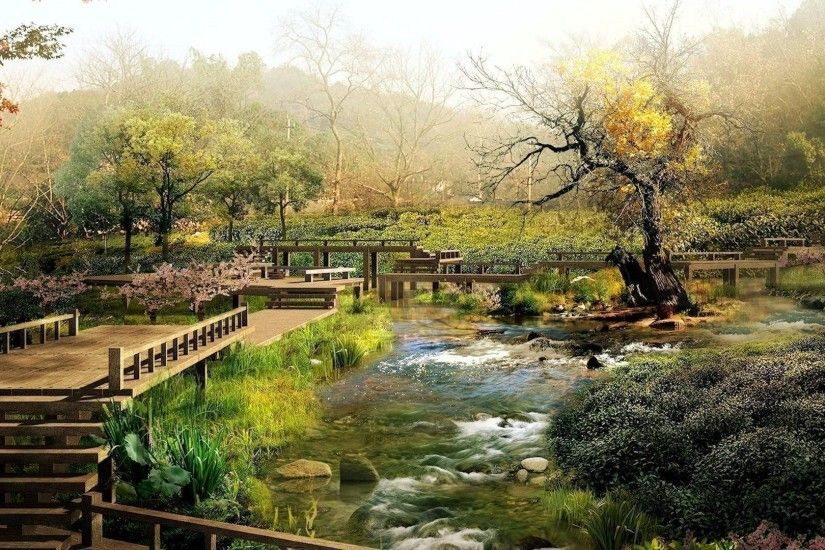 Japanese Garden Wallpaper Free - WallpaperSafari
