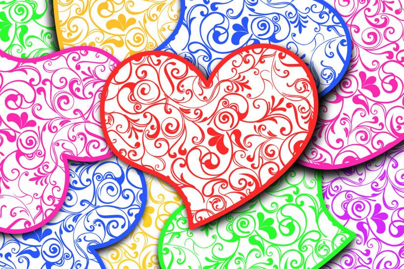 COLORFUL HEARTS WALLPAPER – 1. DOWNLOAD