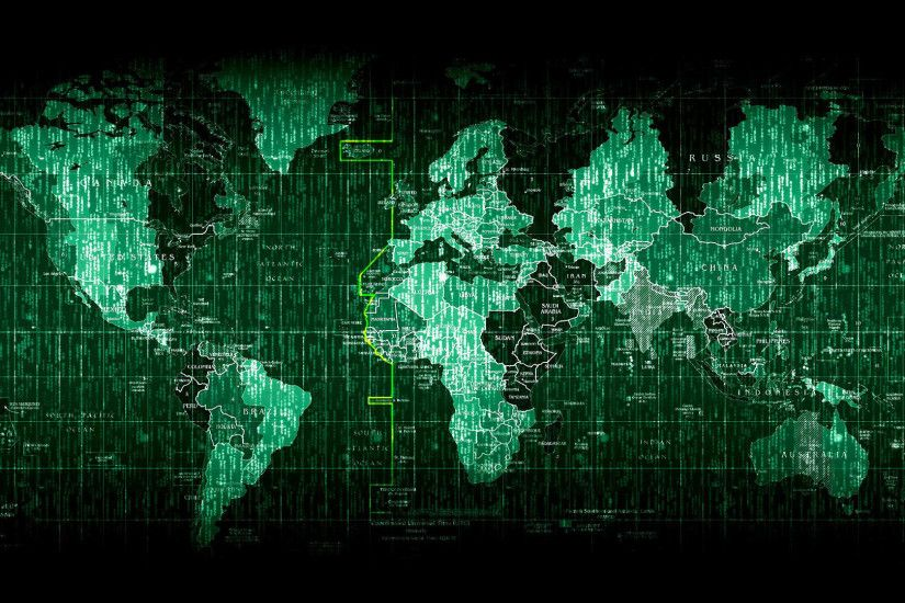 hd pics photos technology matrix world map green desktop background  wallpaper