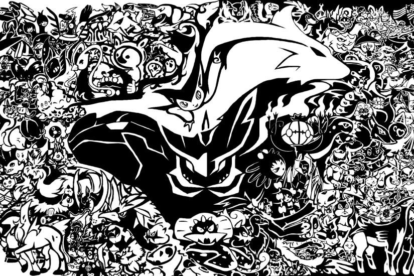 Pokemon-Black-And-White-Background