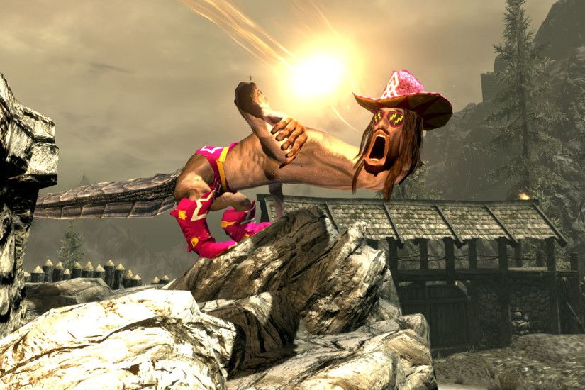 The life and times of Skyrim's best dragon: Macho Man Randy Savage | PC  Gamer
