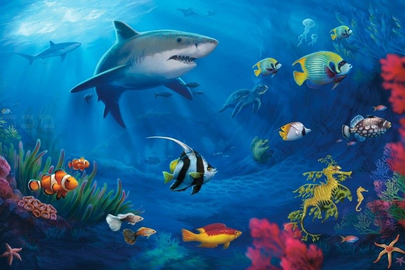 Shark Widescreen Wallpaper
