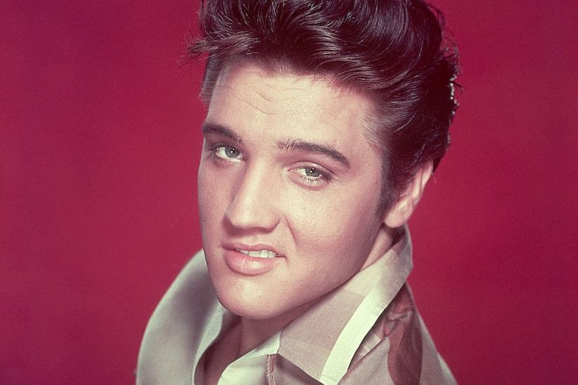 2048x1152 Wallpaper elvis presley, smile, face, haircut, eyes