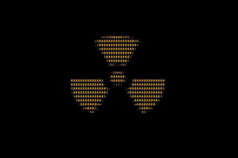radioactive ascii radiation symbol wallpaper background
