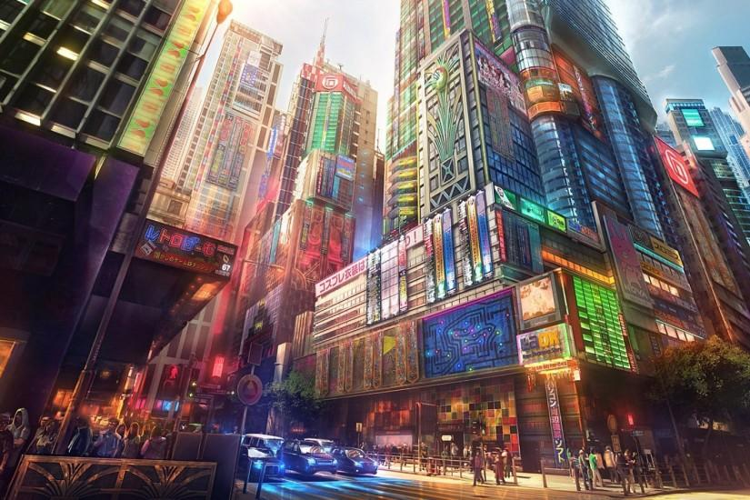 Anime original city cities art artwork fantasy detail wallpaper | 1920x1200  | 687349 | WallpaperUP