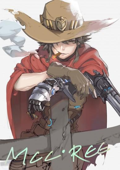 mccree wallpaper 2156x3050 4k