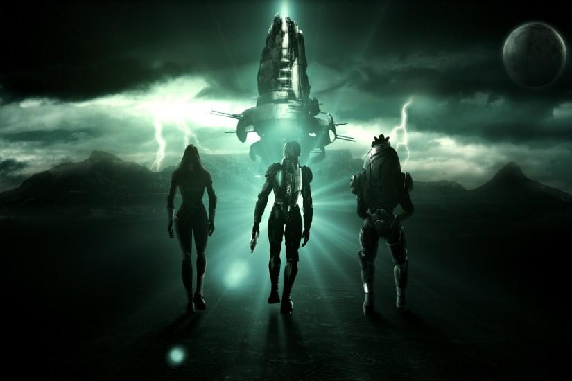 Mass effect tali zorah characters spaceship sky clouds zipp planet  satellite wallpapers.