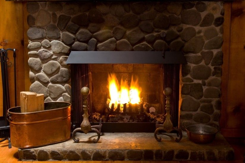 Preview wallpaper fireplace, cozy, interior, lamp 2560x1440