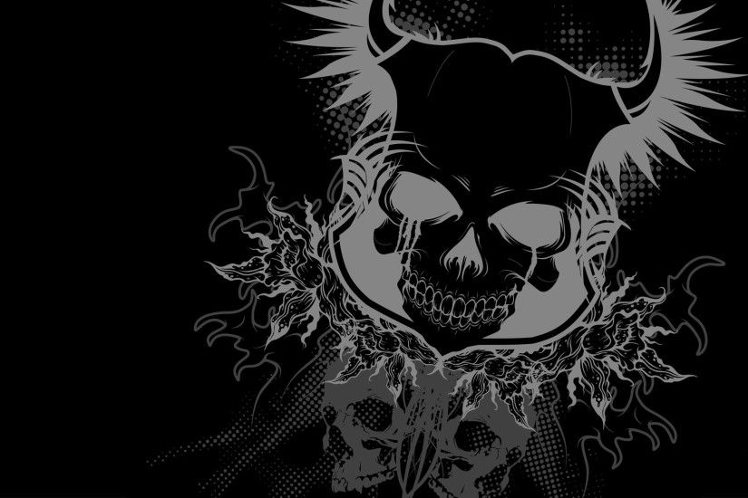 Black Dark Skull Devil Wallpaper Picture 2138