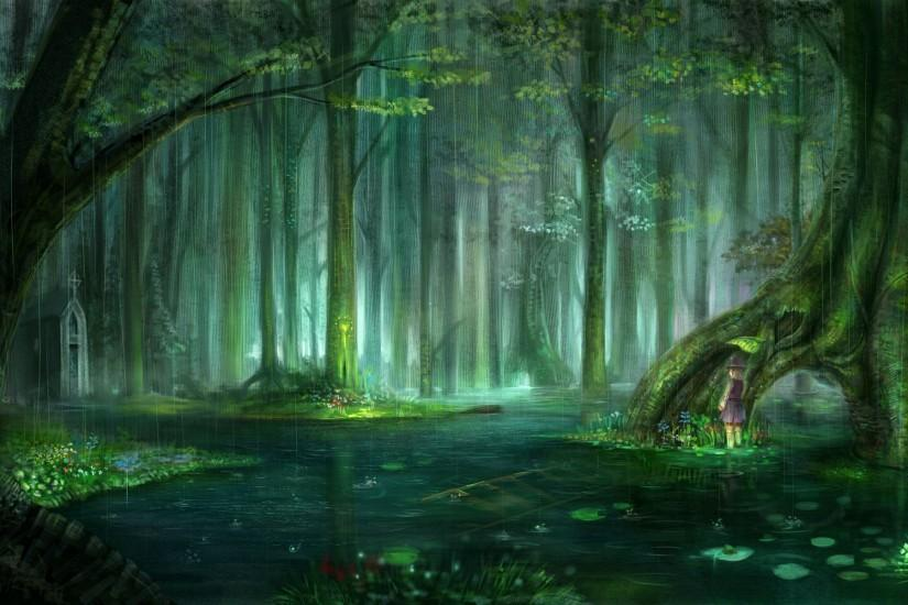 Wallpapers For > Enchanted Forest Background Tumblr