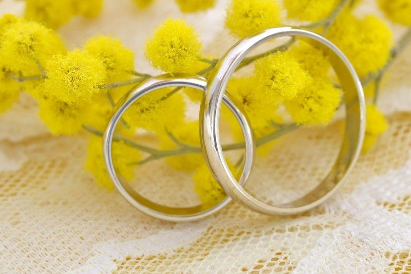 Download Wallpaper 2048x1152 Ring, Mimosa, Wedding HD HD Background
