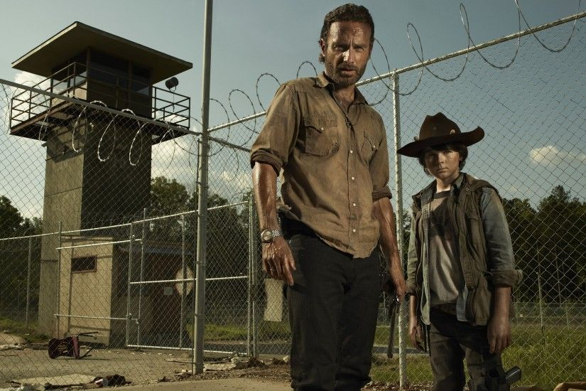 The Walking Dead, Andrew Lincoln, Rick Grimes, Carl Grimes, Chandler Riggs  Wallpapers HD / Desktop and Mobile Backgrounds
