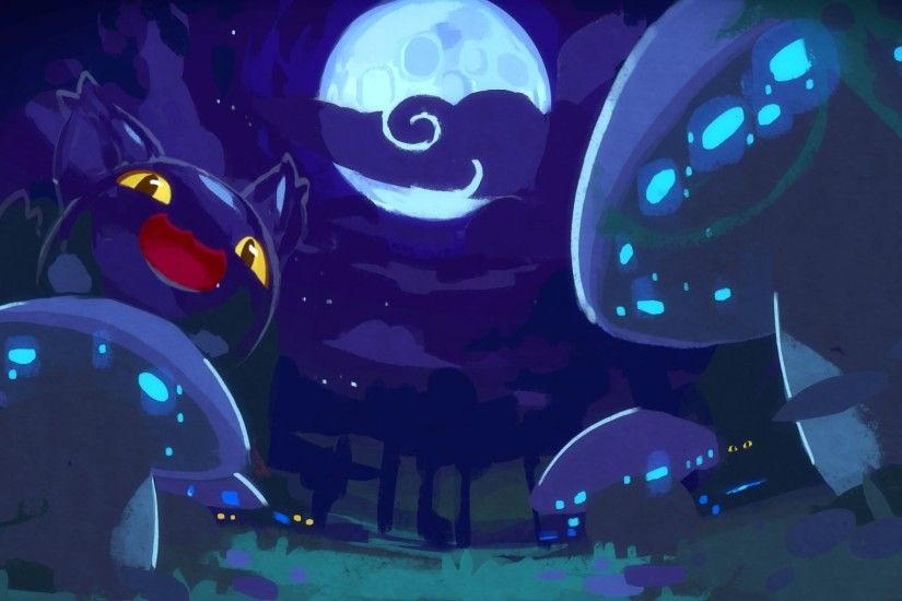 slimes, Slime Rancher, Night, Mushroom Wallpapers HD / Desktop and Mobile  Backgrounds