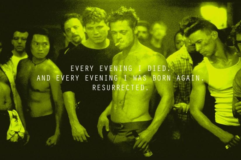 I made one of my favourite Fight Club quotes into a wallpaper [1920x1200]  ...
