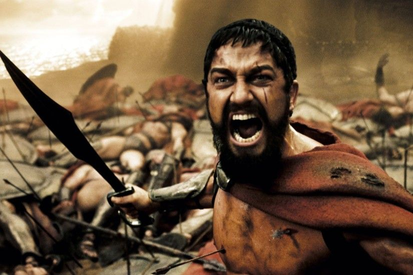 Wallpaper this is sparta, 300, king, leonidas, warrior, sword, shout