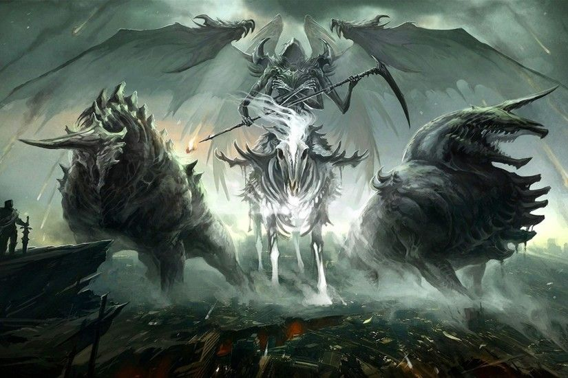 illustration fantasy art creature wings angel death mythology Death Knight  screenshot computer wallpaper fictional character