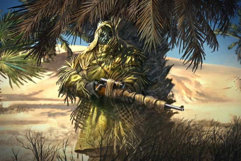 pin Drawn snipers ghillie suit #15