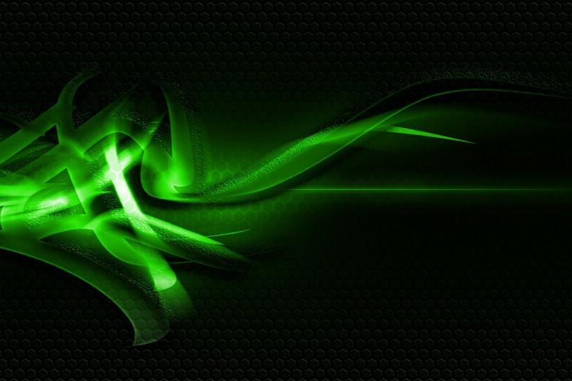 Green And Black Abstract Wallpaper