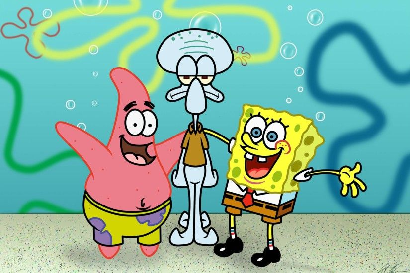 SpongeBob Squarepants and Friends Wallpaper HD For Android .