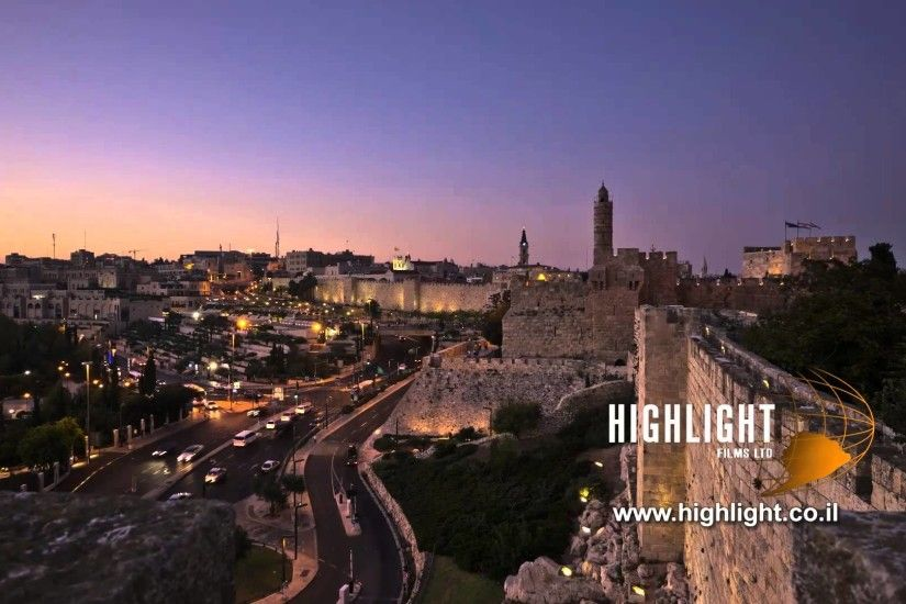 Time Lapse clip of Israel: Jerusalem Jaffa Gate Day to Night 1 - YouTube