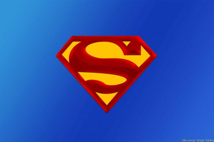 Free Wallpapers - Superman Blue Logo wallpaper