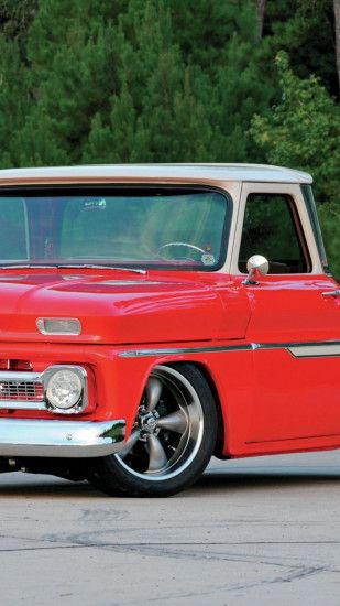 1080x1920 Wallpaper 1965 chevy c10, red, cars, stylish, vintage