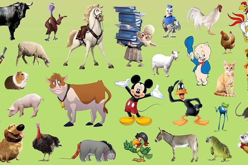 Learn Farm Animals Names and Sounds | With Cartoon characters for kids -  YouTube