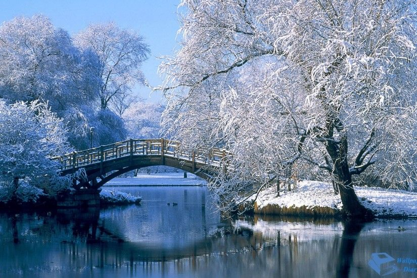 snow wallpaper bridge. Â«Â«