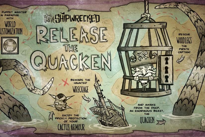 Release the Quacken | Don't Starve Shipwrecked Update Poster
