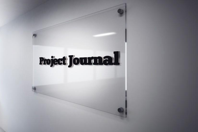 File:Project Journal 3D logo on glass background.jpg